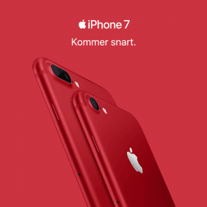 iPhone 7 i Product Red kommer snart i handlen