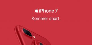 iPhone 7 i Product Red kommer snart i handlen