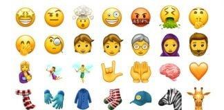 Emojis til Unicode 10 2017 - det er i skrivende stund endnu uvist, hvilke der ikke alligevel blev godkendt af Unicode Consortium