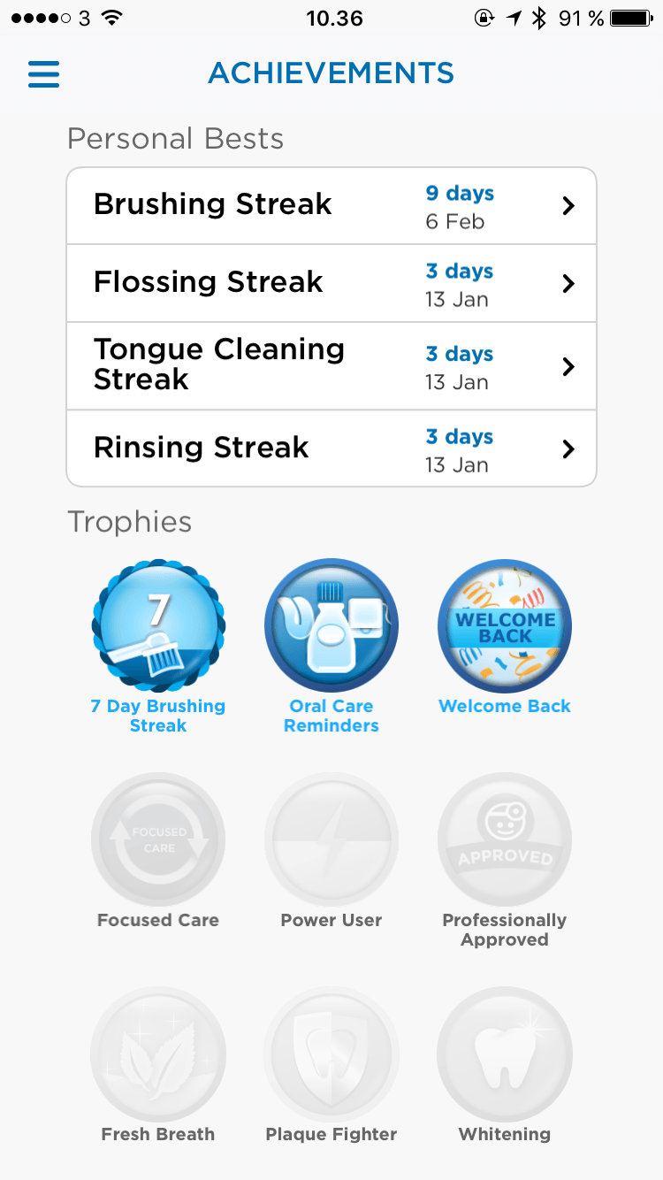 elektrisk tandbørste app