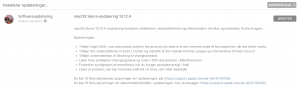 Opdatering til MacOS 10.12.4 (Foto: MereMobil.dk)