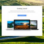 Chrome OS velkomstbesked