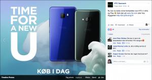 HTC U Ultra og HTC U Play er nu til salg (Kilde: HTC Danmark)