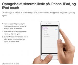 Sådan tager du screenshot på iPhone og iPad (Foto: Apple)