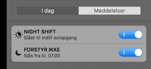 Night Shift på Mac (Foto: MereMobil.dk)