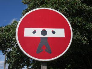 Blokering stop