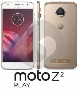 Dette skulle angiveligt være et lækket pressefoto af Moto Z2 Play (Kilde: GSMArena.com)