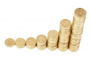 penge grafer stigning