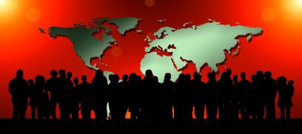 menneskemængde verden