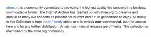 Live Music Archive varetages af Etree.org.