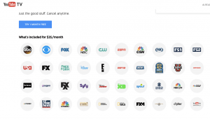 Youtube TV indhold
