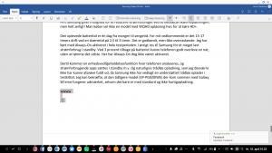 Word dokument via Samsung DeX (Foto: MereMobil.dk)