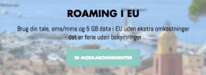 Telmore klar med nye abonnementer med EU-roaming (Kilde: Telmore.dk)