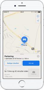Apple Maps parkering
