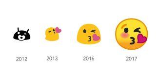 Ikonudvikling på Android (Grafik: Emojipedia)