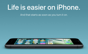 Lettere med en iPhone