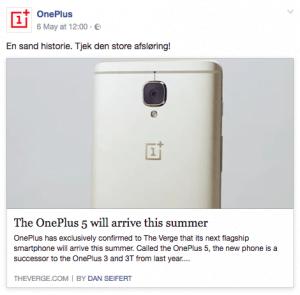 OnePlus teaser på de sociale medier for deres egen officielle udmelding om OnePlus 5