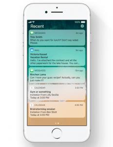 Låseskærm med notifikationer på iOS 11 (Foto: Apple)