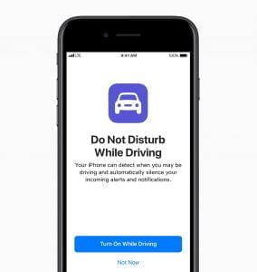 Forstyr ikke når du kører introduceres med iOS 11 (Foto: Apple)