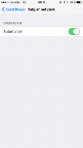 Automatisk valg af net ved roaming på iOS (Foto: MereMobil.dk)