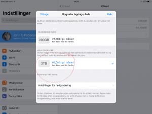 iCloud lagring iOS 11