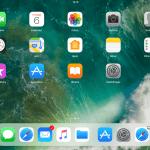 Startskærmen på en iPad med iOS 11 (Foto: MereMobil.dk)