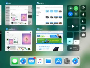 App-oversigt og Kontrolcenter i iOS 11 (Foto: MereMobil.dk)