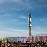 3 har opsat opsat Massive MIMO udstyr i fem master på Roskilde 2017 - bl.a. i denne mast, som står bag ved tribunen , der er placeret på den bagerste del af tilskuerarealet ved Orange Scene - også kaldet Grand Stand (Foto 3)