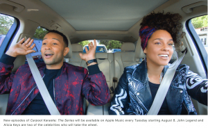 John Legend og Alicia Keys i Carpool Karaoke (Foto: Apple)