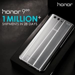 Honor 9 solgt i 1 million eksemplarer (Kilde: Honor Twitter)