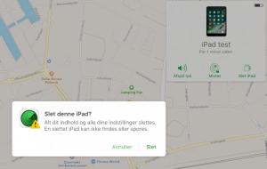 Slet din iPad