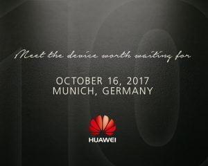 Huawei har udsendt invitationerne til et event mandag den 16. oktober 2017 i München. Her ventes det, at de vil afsløre Huawei Mate 10 (Kilde: Huawei)