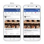 Ændringer i designet på Facebook i august 2017 - før og efter (Foto: Facebook)