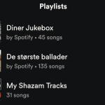 Spotify playliste tip
