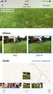 iOS 11 live photo redigering