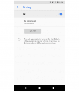 Driving Google Pixel 2