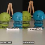 Fotosammenlig iPhone 7 og 8 Plus