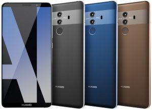 Huawei Mate 10 Pro lækket på billeder, som viser farvevarianter og design (Kilde: Evan Blass / GSMArena.com)