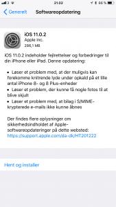 Apple udsender iOS 10.0.2
