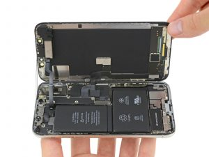 L-formet batteri i iPhone X ifixit