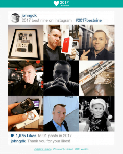 Best Nine 2017 fra John G. på Instagram