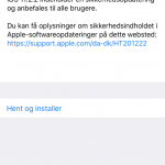 Opdatering til iOS 10.2.2 (Foto: MereMobil.dk)