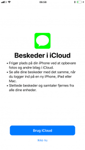 Beskeder i iCloud