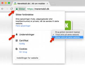 Notifikationer Chrome