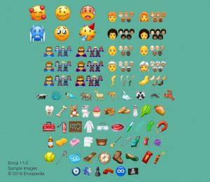 157 nye emojis er på vej i 2018 (Kilde: Emojipedia)