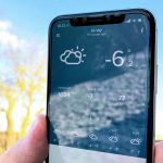 iPhone X vinter frost kulde