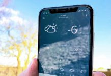 iPhone X vinter frost kulde