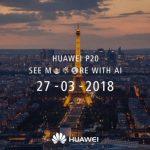 Huawei P20-event i Paris - marts 2018