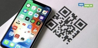 Scan QR kode med iPhone