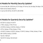 Sikkerhedopdateringer fra Samsung (Kilde: Samsung)